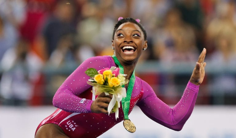 Simone Biles on the Verge of Making History despite Kidney Stone